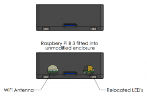 Raspberry Pi B 3 is compatible with current enclosure