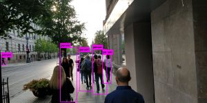 Pedestrian detection using YOLOv3