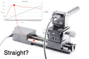 Measure linear rail quality with camera and excel