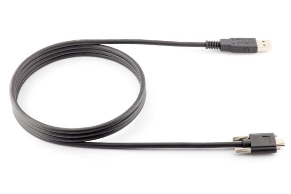 Mini USB cable 1.5m (with lock screws)
