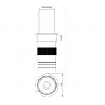 C-mount microscope zoom lens 0.7-4.5x