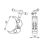 Crab clamp (for articulating arm)